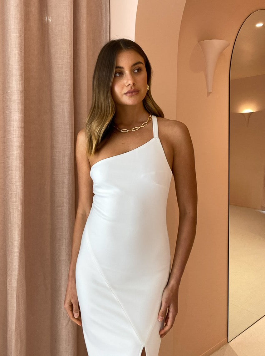 By Nicola Midnight Midi Dress in White