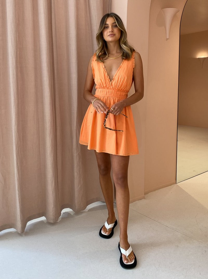 By Nicola Samba Mini Dress in Mandarin