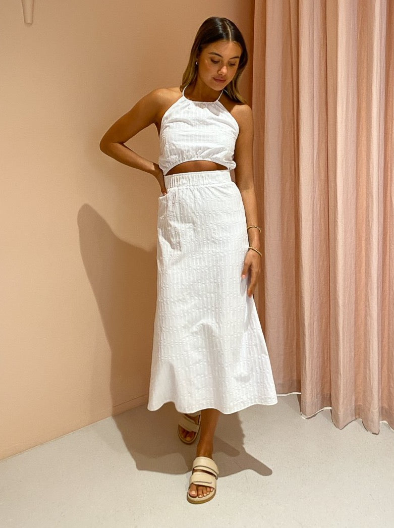 By Nicola Samba Midi Dress in White