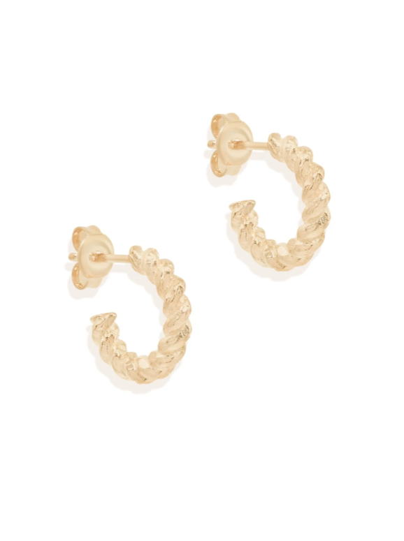 By Charlotte Divine Fate Small Hoops in Gold