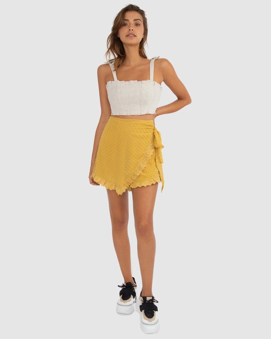 Carver Abella Skort in Lemon