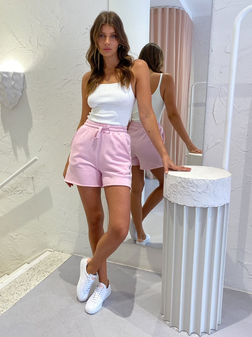 Camilla and Marc Marvin High Waisted Short in Ice Pink
