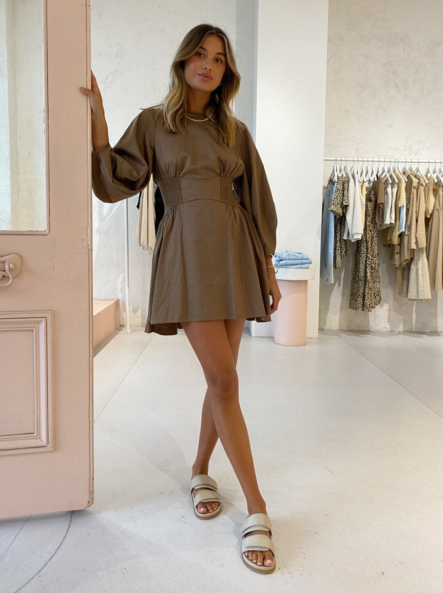 Camilla and Marc Willis Mini Dress in Walnut