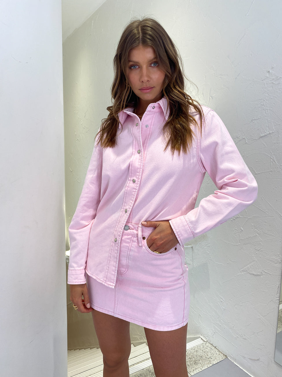 Camilla and Marc Billy Shirt in Ice Pink