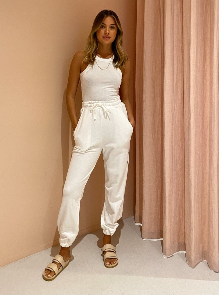 Camilla and Marc Jordan High Waisted Track Pant in White