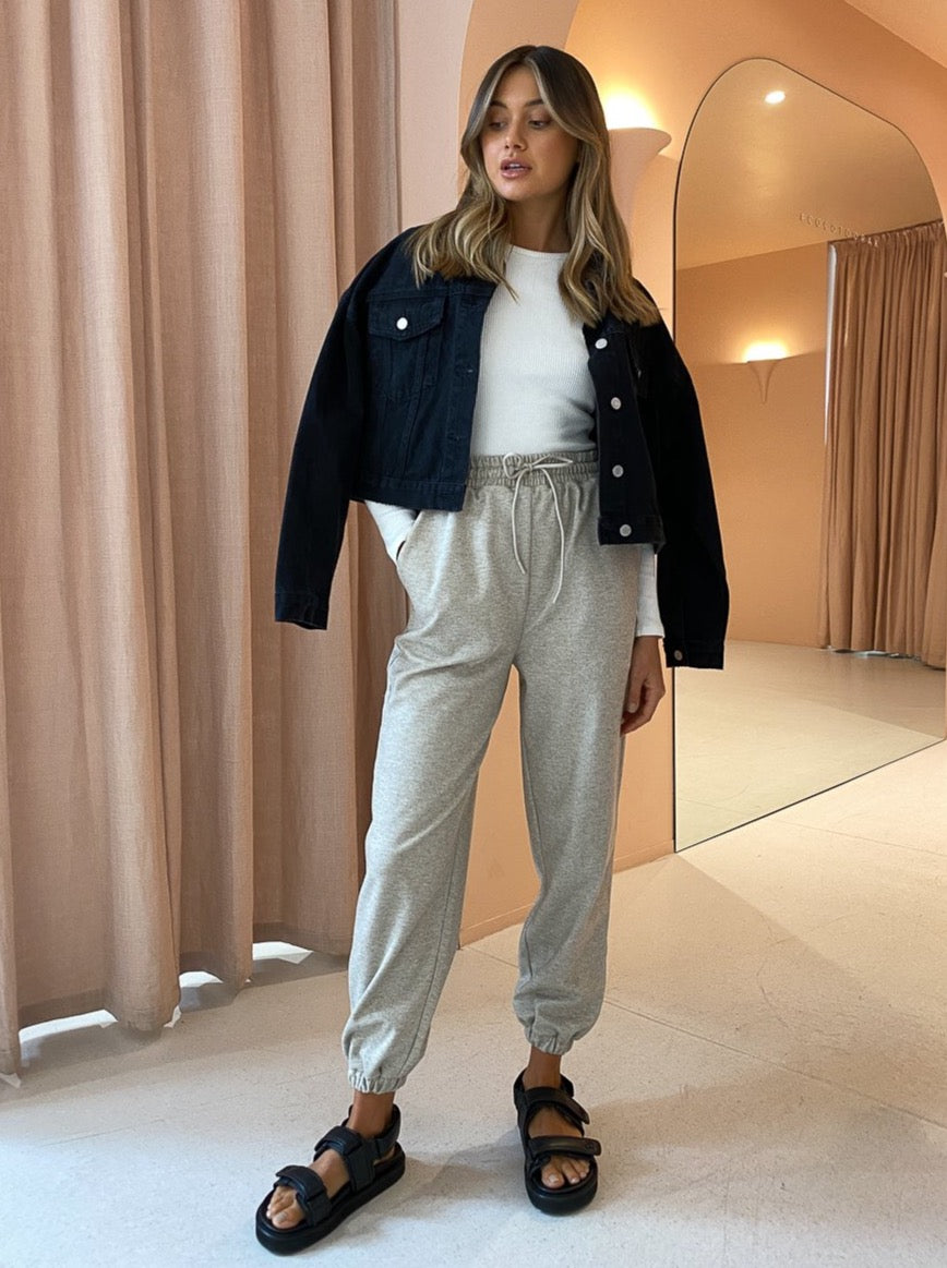 Camilla And Marc Limia High Waisted Pant In Oat Marle