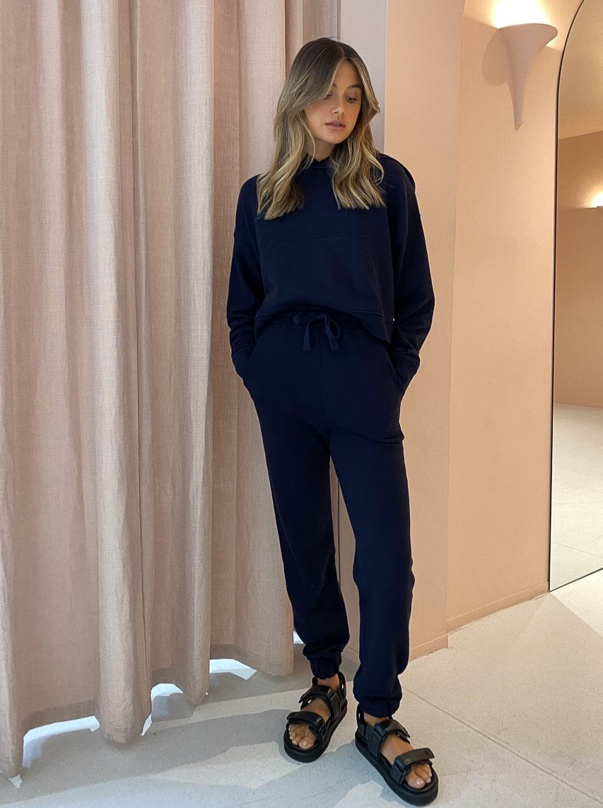 Camilla And Marc Jordan High Waisted Track Pant In French Navy