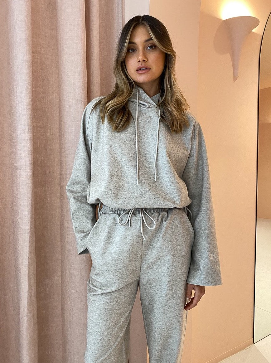 Camilla And Marc Limia Cropped Hoodie In Oat Marle