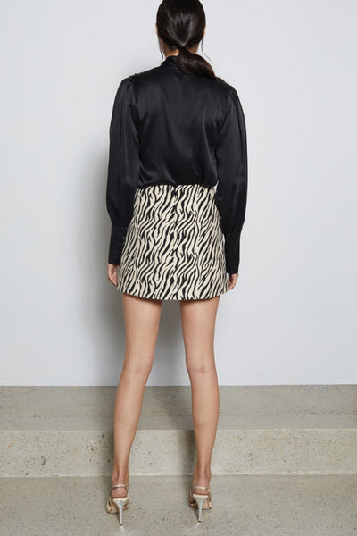 Bec & Bridge Cecile Mini Skirt in Zebra
