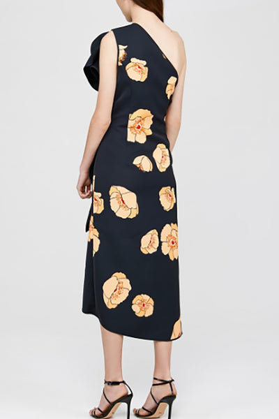 Acler Crawford Dress in Large Amber Poppy