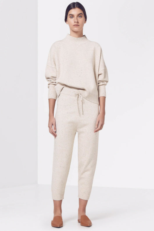Viktoria & Woods Distance Knit Pant in Oat Speckle