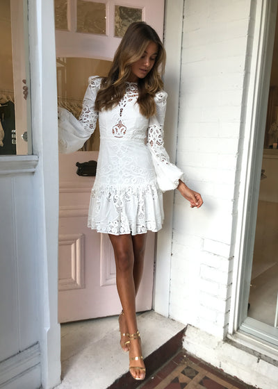 Thurley Fable Mini Dress in Ivory