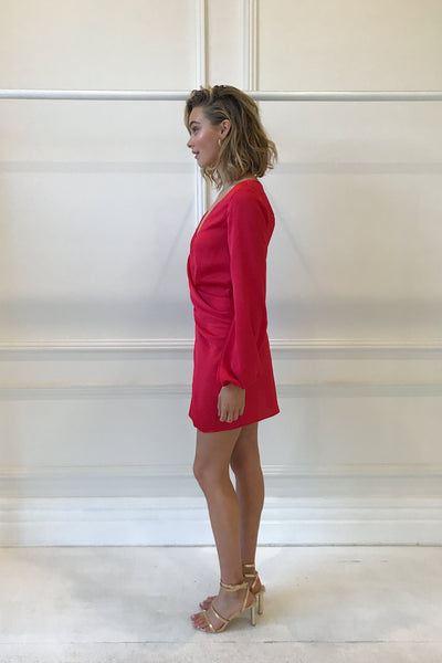 One Fell Swoop Dream Mini Dress in Rouge