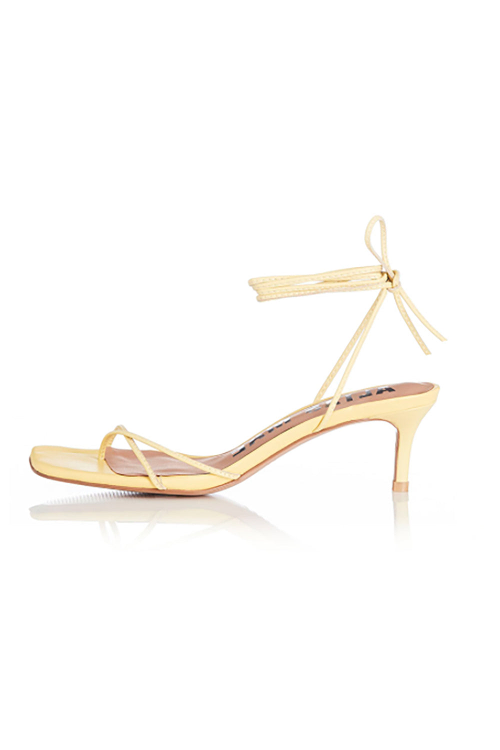 Alias Mae Ellery Heel in Lemon Leather