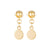 Elvis et Moi Mini Stud Disk Earrings in Gold