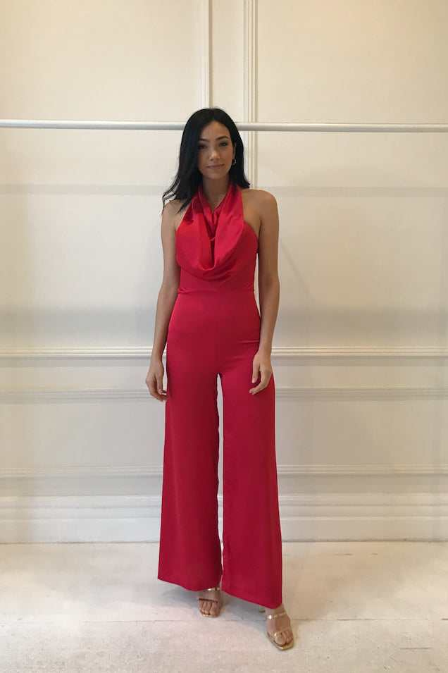 One Fell Swoop Emily Jumpsuit in Rouge