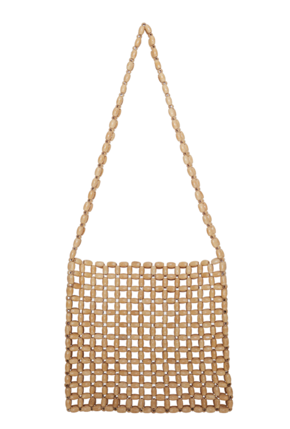Faithfull the Brand Beaded Clutch Bag in Natural
