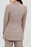 Acler Fairfax Blazer in Clay Check