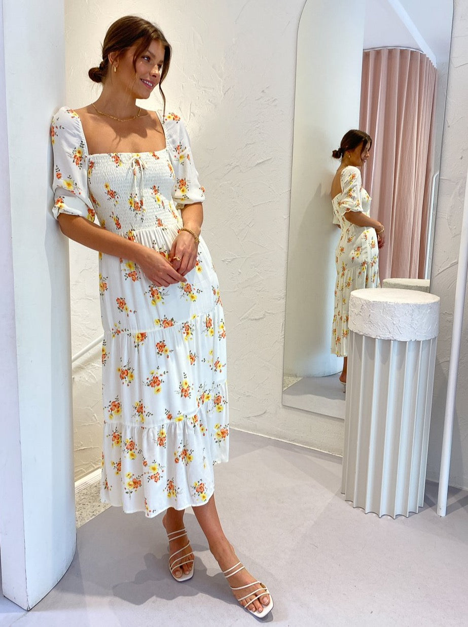 Faithfull the Brand Le Galet Midi Dress in Camargue Floral