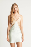 Ginia Carly Dress in Sea/Almond