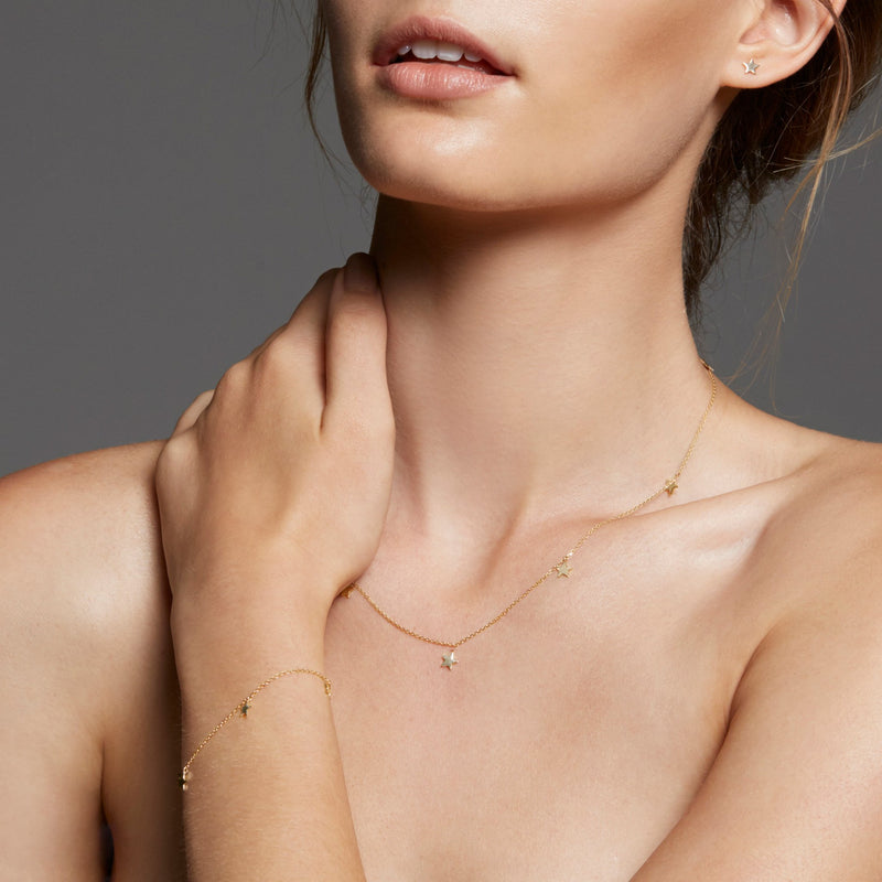By Charlotte Rose Gold Star Bright Necklace in Rose Gold