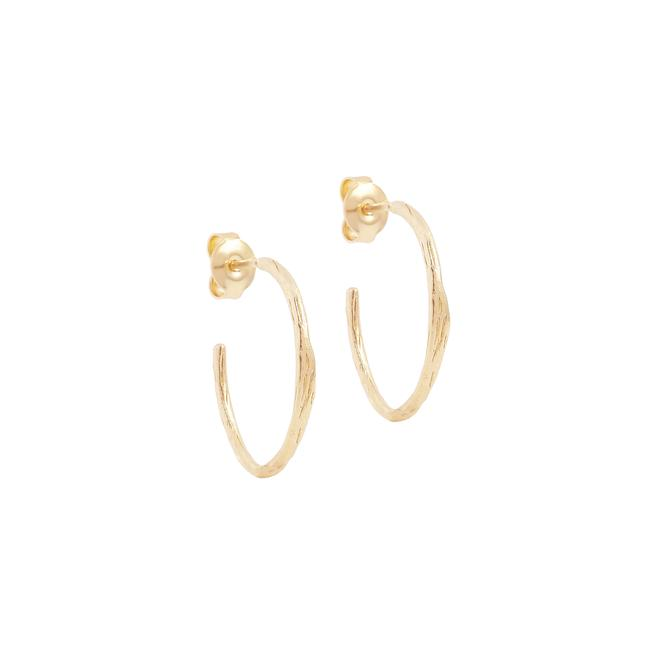By Charlotte Gold Devotion Hoops in Gold