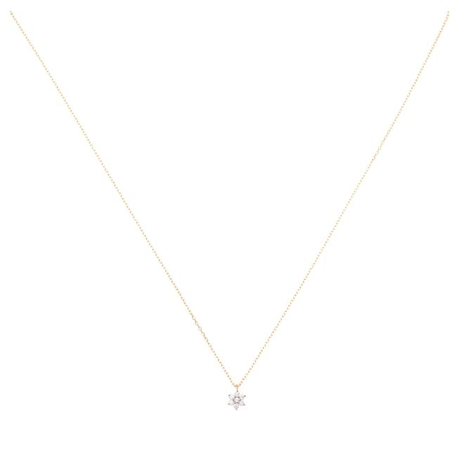By Charlotte 14kt Gold Crystal Lotus Flower Necklace