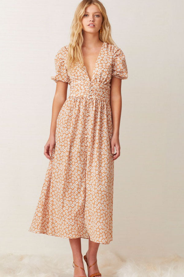 Bec & Bridge Zoe Midi Dress in Floral