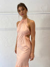 Suboo Eden Halter Neck Maxi Dress in Dusty Pink