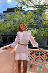 Issy Monet Blouse in White Eyelet