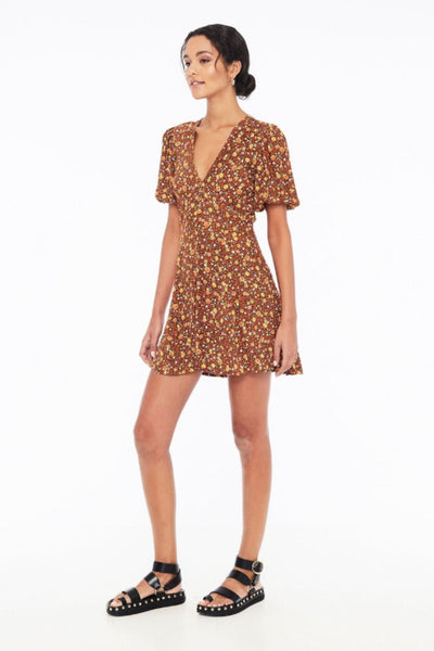 Faithfull the Brand Ilia Mini Dress in Nicasia Floral Print