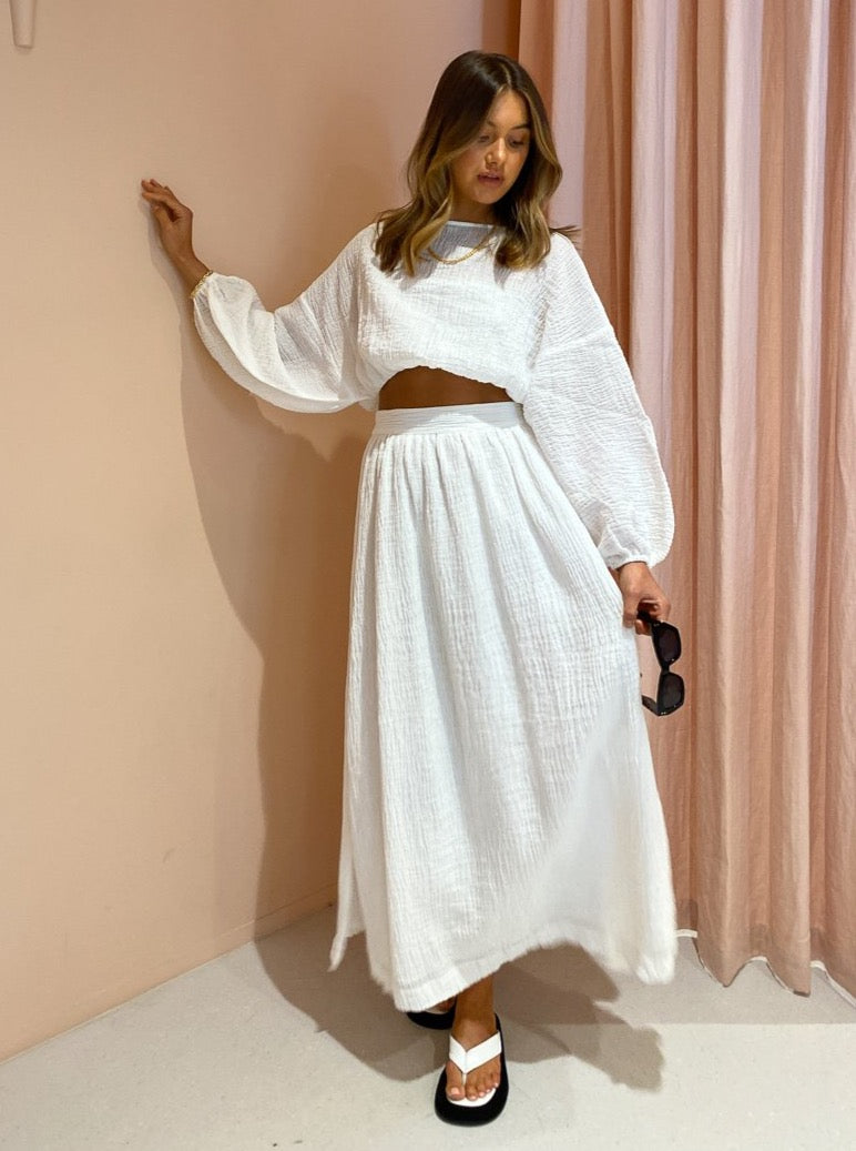 Issy Seraph Skirt in White