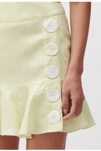 Joslin Machelle Linen Skirt in Solar Yellow