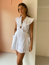 Joslin Kayla Linen Playsuit in Optical White