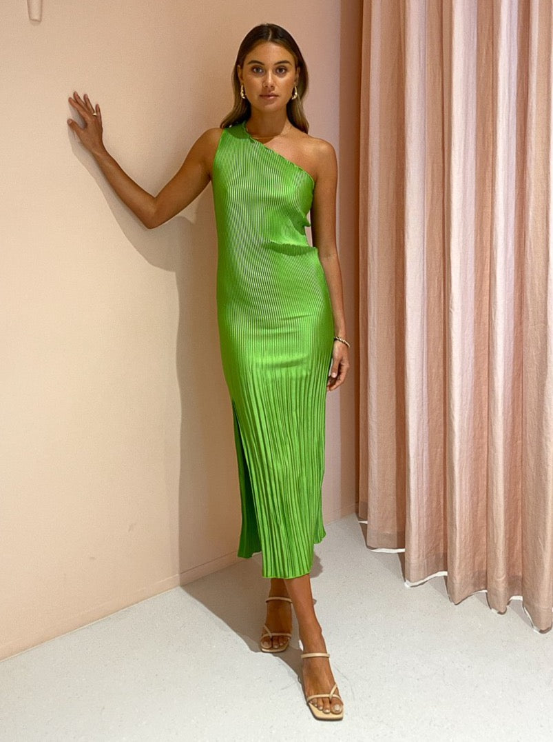 Lidee Soiree One Shoulder Gown in Green