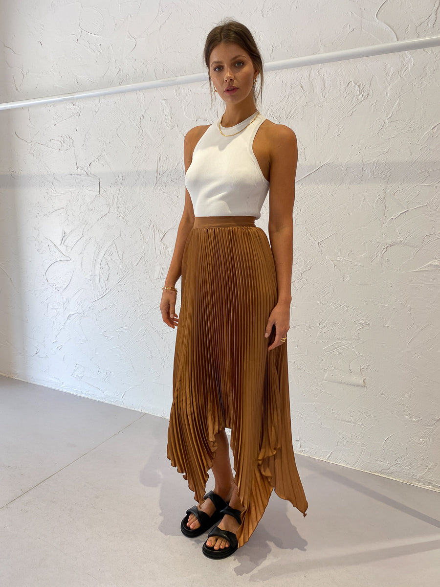 Lidee Bisous Skirt in Caramel