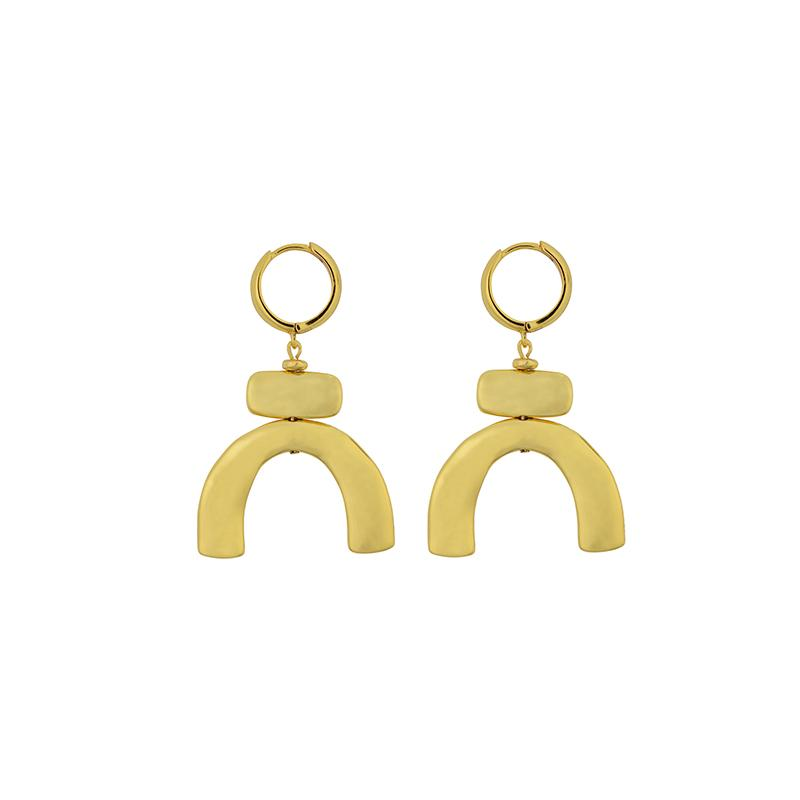 Brie Leon Lampara Earrings in Gold