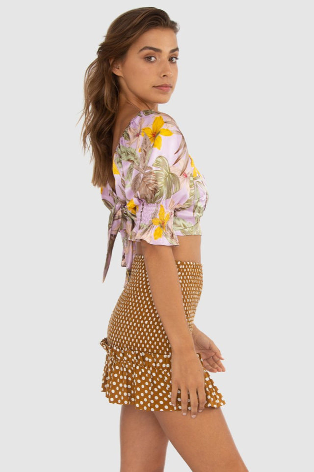 Carver Lola Skirt in Mustard Spot