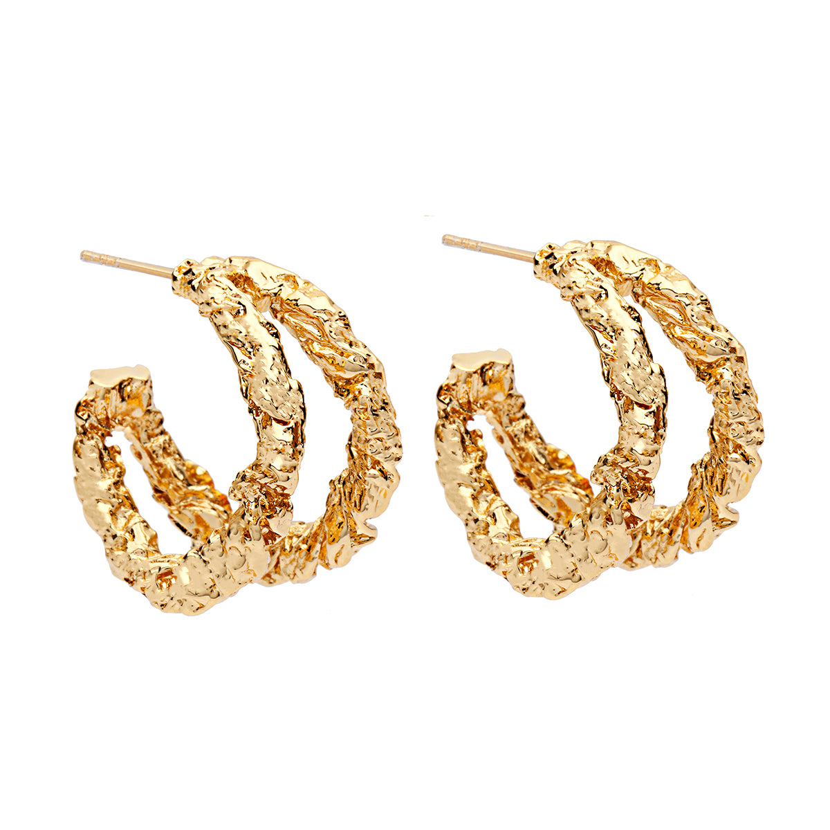 Amber Sceats Monroe Earrings in Gold