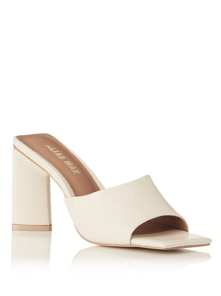 Alias Mae Macy Heel in Bone Leather