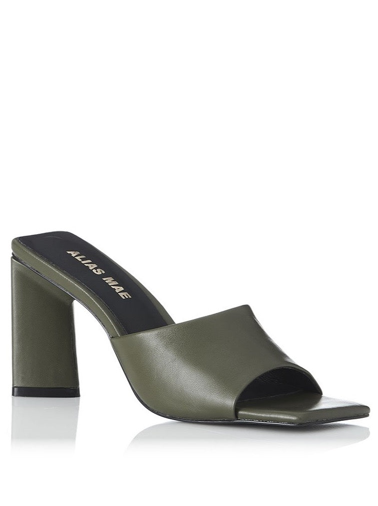 Alias Mae Macy Heel in Olive Leather