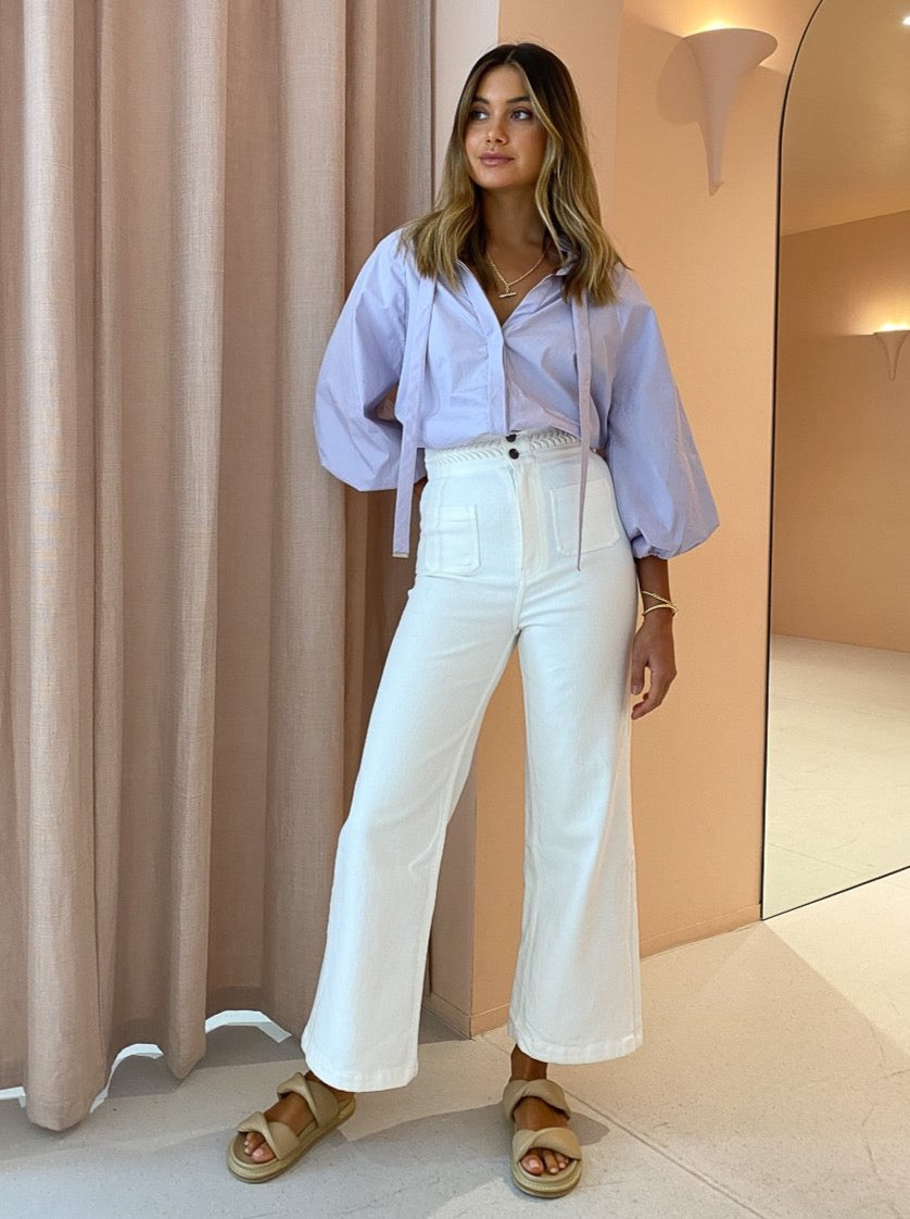 Magali Pascal Birkin Pants in Off White