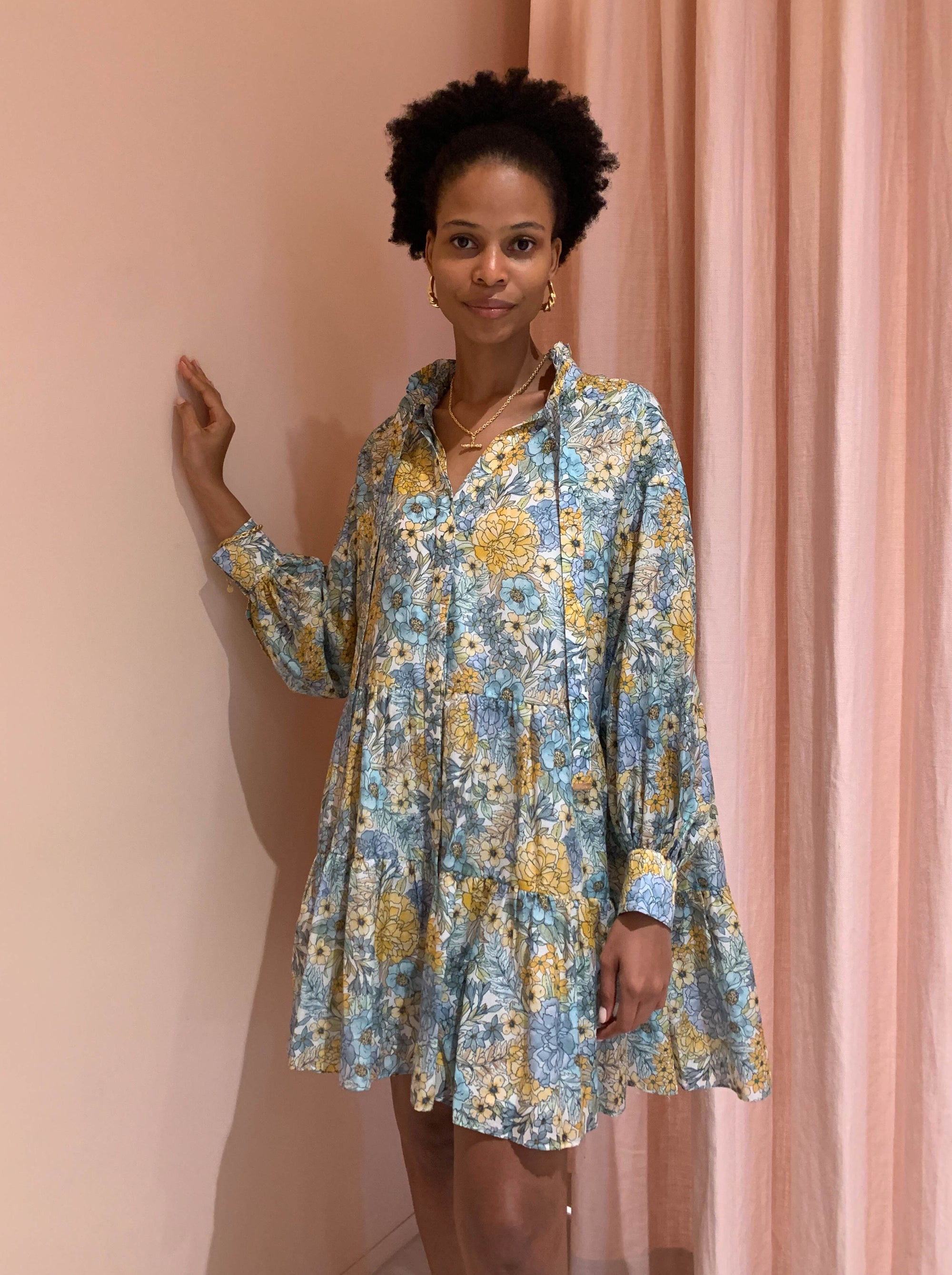 Magali Pascal Glory Shirt Dress in Eden Print