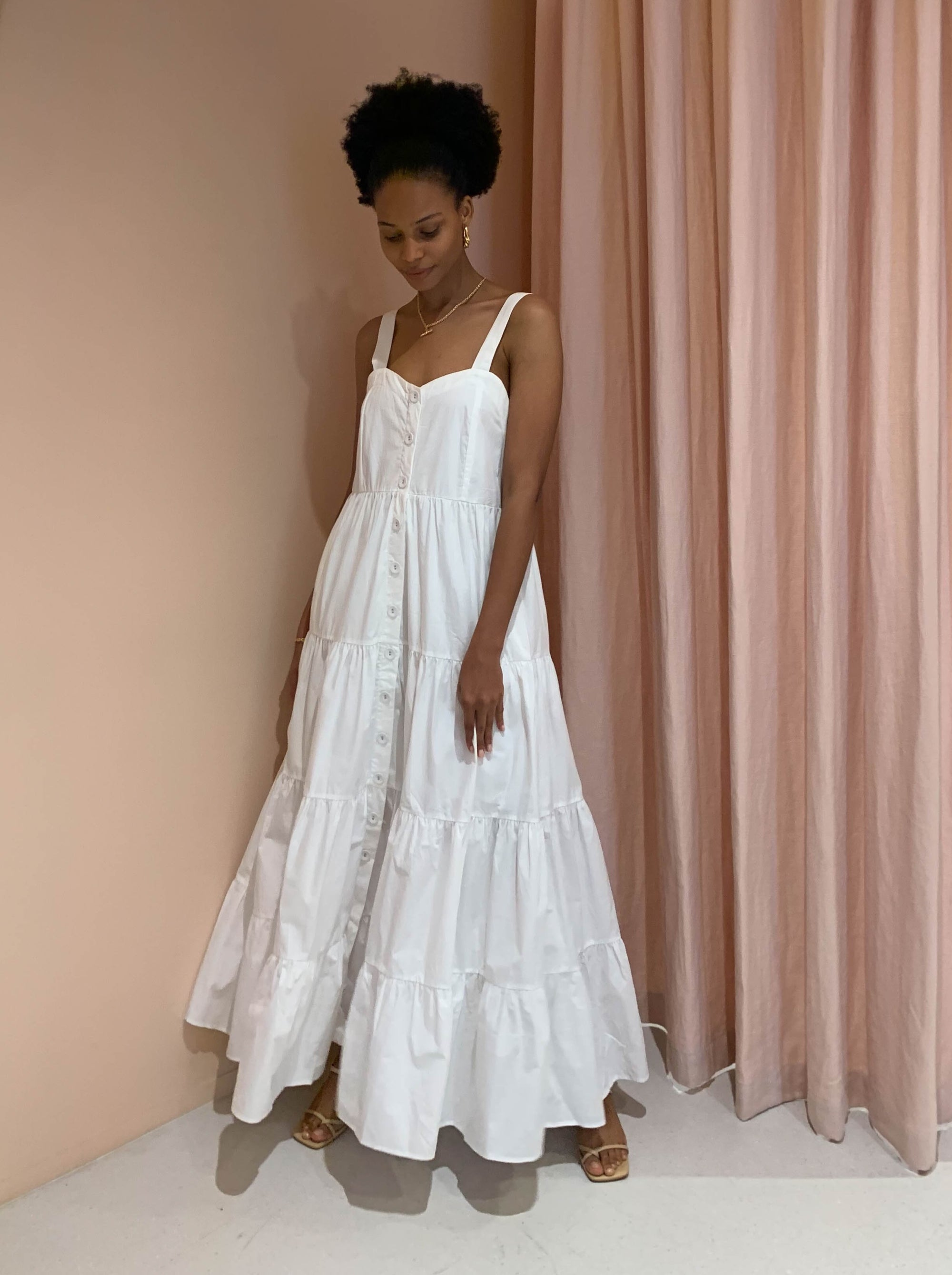 Magali Pascal Calypso Dress in Off White