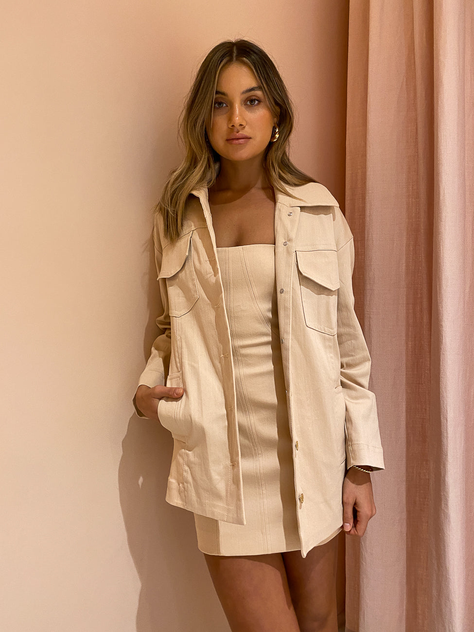 Manning Cartell Fangirl Jacket in Blush