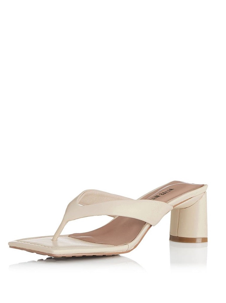 Alias Mae Noah Heel in Bone Leather