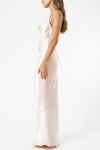 Olive and Ivy Cowl Maxi Dress in Rose Pearl