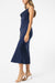 Olive and Ivy Cowl Midi Dress in Navy