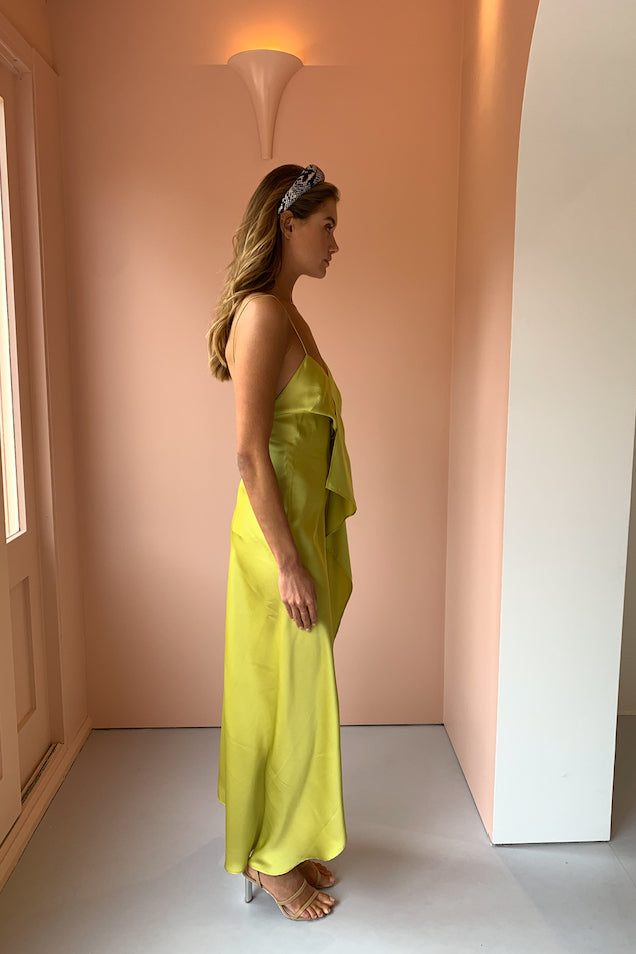 One Fell Swoop Picasso Maxi Dress in Citron