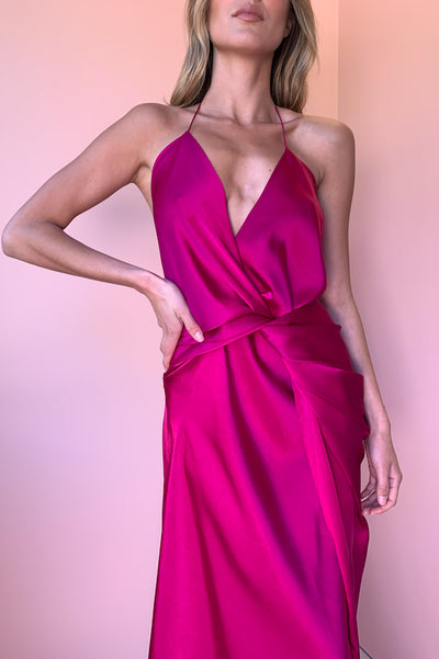 One Fell Swoop Surreal Dress in Cardinal Pink